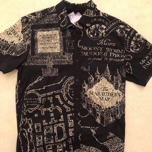 Harry Potter 'Marauder's Map' Short Sleeve Shirt